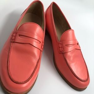 JCrew 8.5 Salmon Pink Smooth Leather Penny Loafer